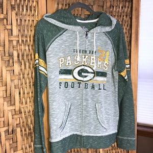 Majestic PACKERS Est. 21 Full-Zip Hoodie NWOT
